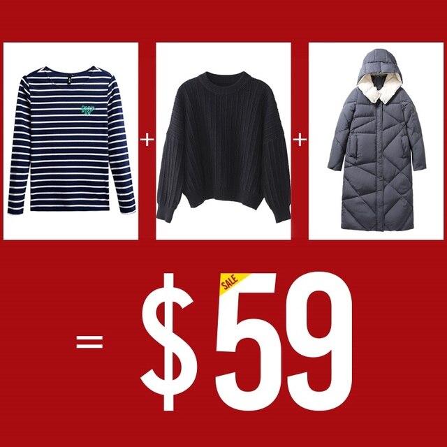 Toyouth $59 получите 1 комплект Для женщин 2018 осень-зима Теплый пуховик пальто, толстовки и футболки с длинными рукавами длинная парка с капюшоном пальто Смеси
