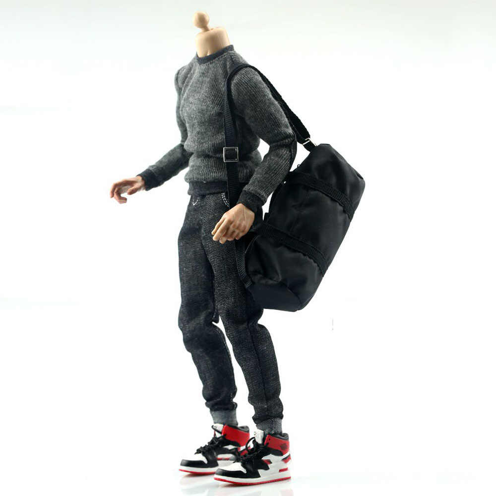 7c1b4aaa50 ... In Stock 1 6 Scale Soldier Sports Backpack DIY Robber Large Bag for 12