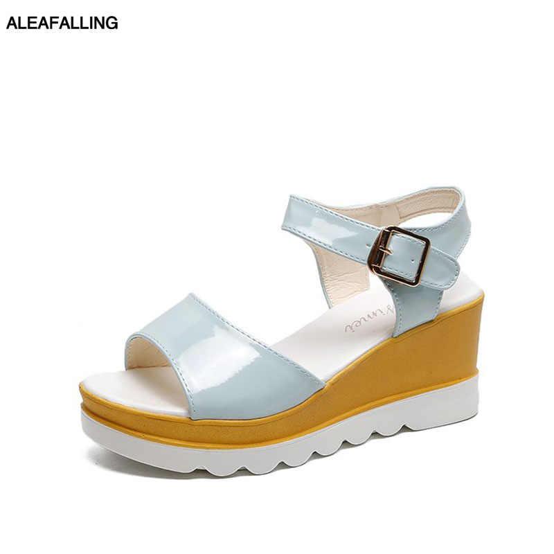 Aleafalling/летние женские босоножки модные офисные туфли на высоком каблуке и