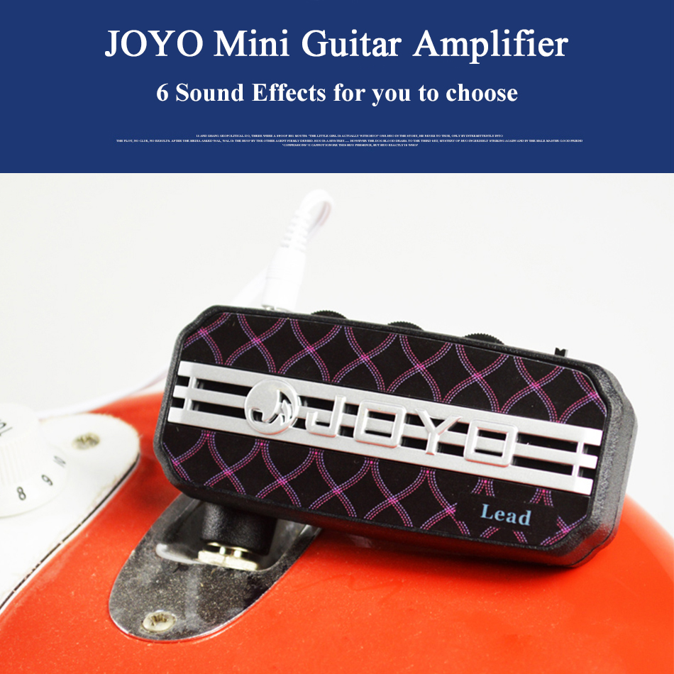 JOYO JA-03 Mini Guitar Amplifier Amp Pocket Powerful 6 Sound Effects Metal&Lead&English Channel&Super Lead&Tube Drive & Acoustic 3206 amplifier aluminum rounded chassis preamplifier dac amp case decoder tube amp enclosure box 320 76 250mm