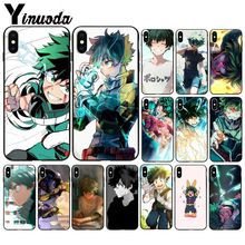 Yinuoda My Hero Academia Midoriya Izuku DIY Printing Drawing Phone Case for iPhone 8 7 6 6S Plus X XS MAX 5 5S SE XR Cover