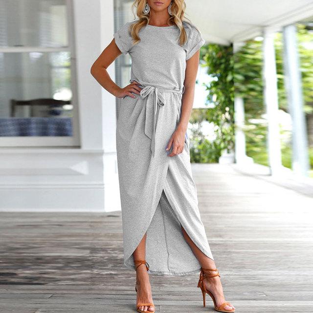 2019 Plus Size Party Dresses Women Summer Long Maxi Dress Casual Slim Elegant Dress Bodycon Female Beach Dresses For Women 3xl 3
