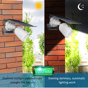 Image 5 - 10 LED Solar Light Adjustable Lighting Angle 500lm Waterproof Lamp Spotlight With Three Modes For Outdoor Gardn Wall Yard
