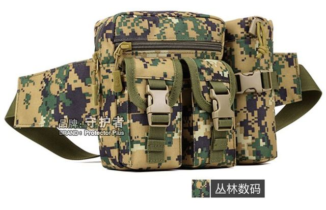 sports military water bottle water bottle bag outdoor small pockets ride travel purse leisure small chest bag in kettle