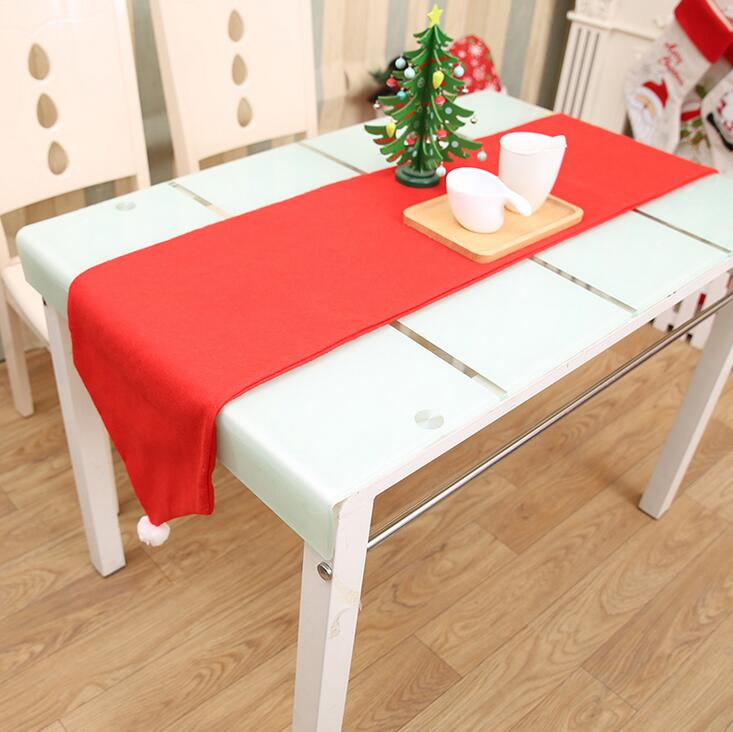 Rispettoso Di Natale Di Natale Runner Raso Tovaglia Tovaglietta Rossa Bandiera Da Tavolo Panno Asciugamano Coperture Formato 176*34 Centimetri