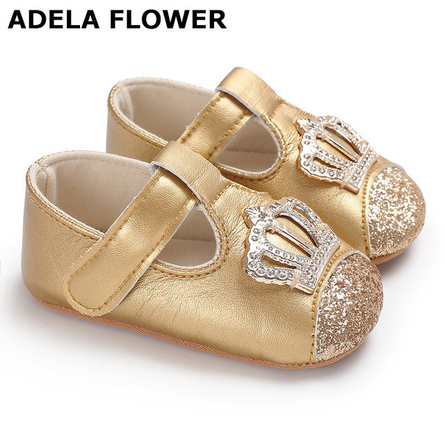 33550a610f782 Adela Flower 0-18M Sequin Baby Girl Shoes Soft PU Baby Moccasins Princess  Shoes Toddler Prewalker Newborn Baby Shoes Girls