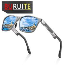 BURUITE 2019 UV400 Aluminum Square Men/Women Polarized Coating Mirror Sun GlassesEyewear Sunglasses For Men