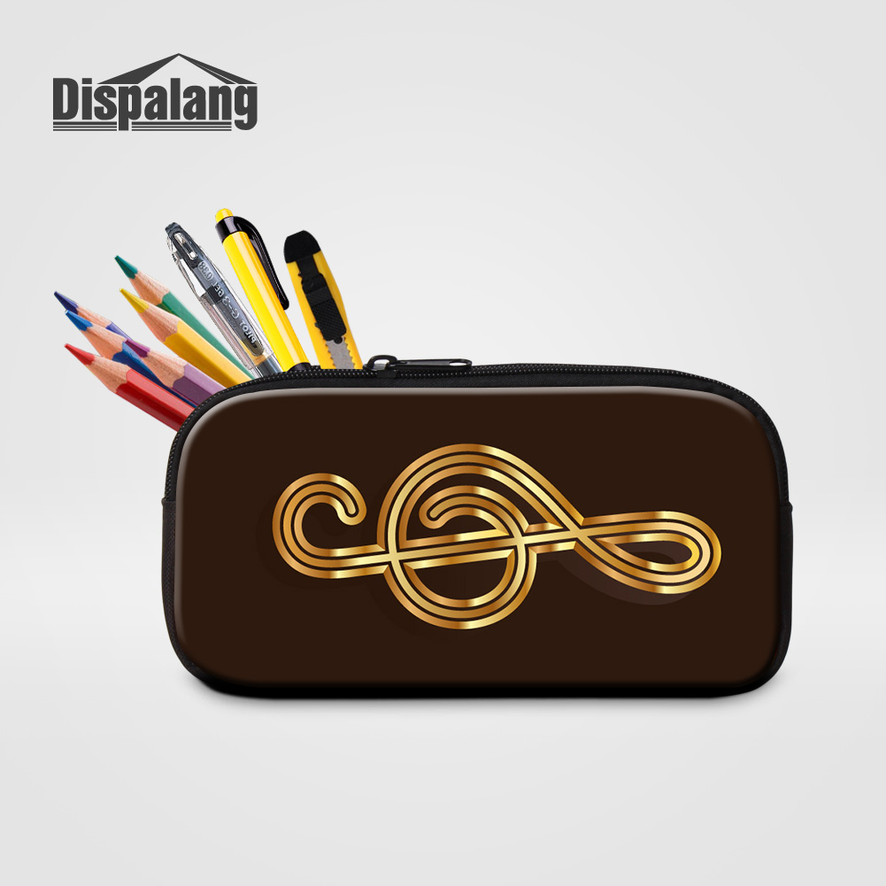 Dispalang Cute Cosmetic Cases For Women 3D Printing Musical Note Pencil Box Bags Girls Boys Pen Bag Stationery Pouch For School cute cartoon women bag flower animals printing oxford storage bags kawaii lunch bag for girls food bag school lunch box z0