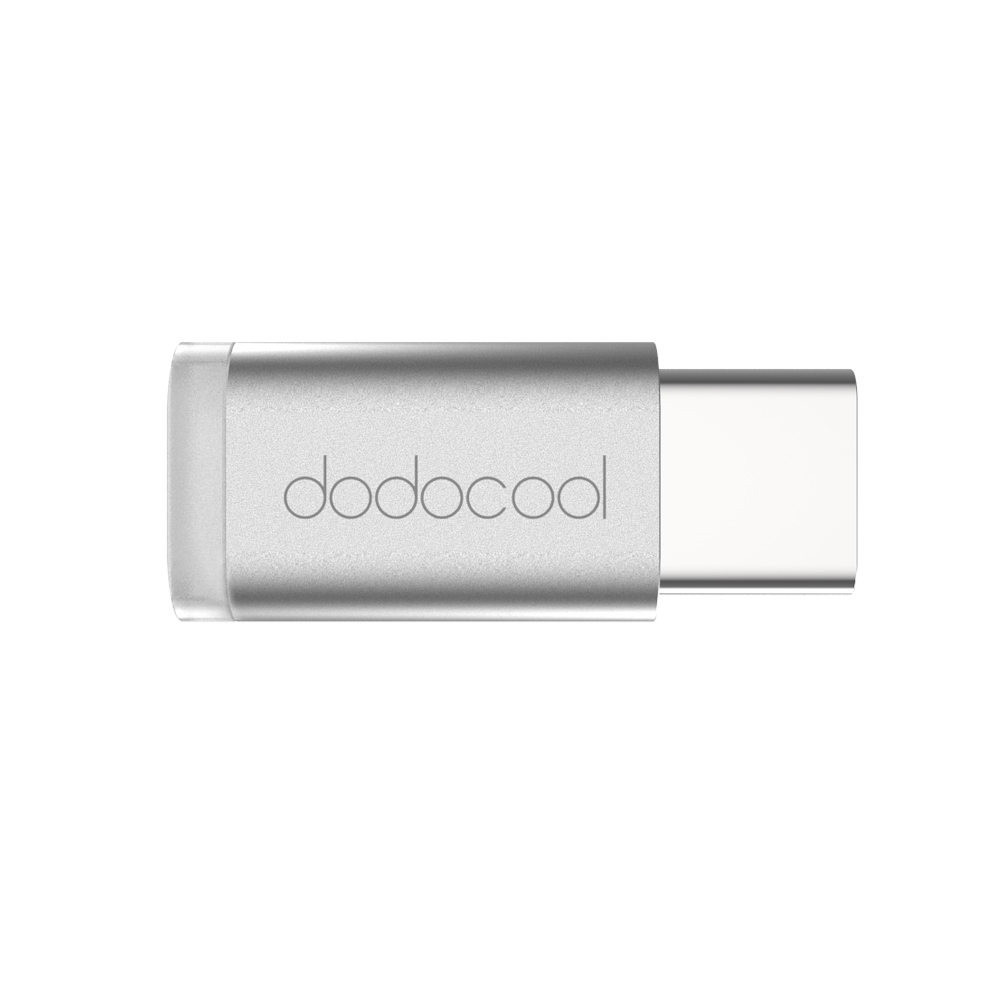 hight resolution of dodocool mini usb c to micro usb adapter convert usb type c to micro usb connector silver color