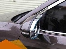 Per Hyundai Tucson 2016 2017 2018 2019 Esterno ABS Chrome Rear View Mirror Pioggia Guard Autoadesivo della Struttura di Copertura 2 * auto-styling
