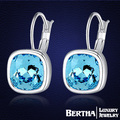 Fantastic Cubic Brand Statement Earrings For Women With Swarovski Elements Austrian Crystal High Quality Square Stud Earring