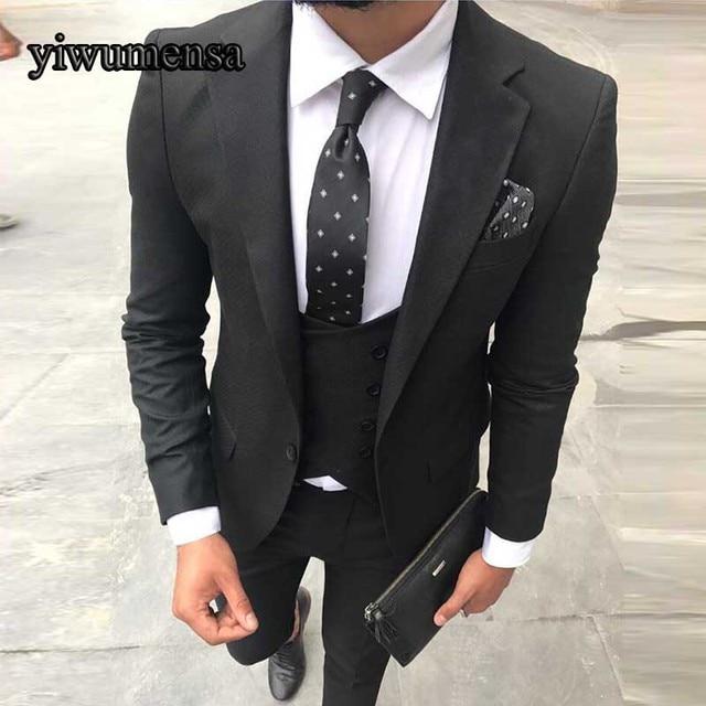 a6b627af2 Y516 traje de negocios novio esmoquin Slim Fit para hombres traje de boda 3  piezas (