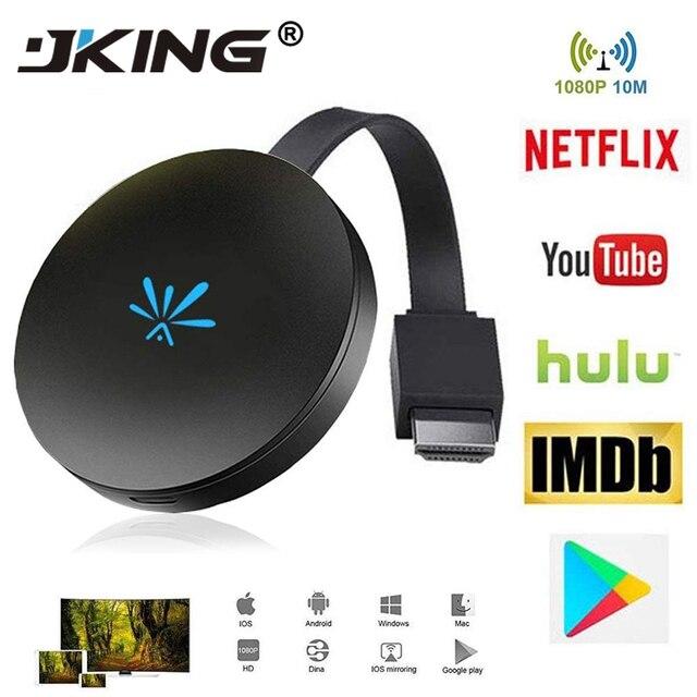 JKING G6 TV Stick 2.4 GHz Video WiFi Hiển Thị Dongle HD Kỹ Thuật Số HDMI Phương Tiện Truyền Thông Video Streamer TV Dongle Receiver Cho chromecast 2