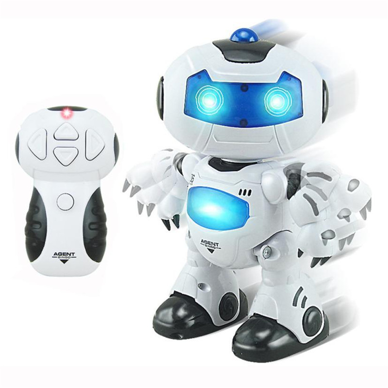 RC Music & Light Remote Control Robot action figure Toy Intelligent Walking Space Robot Toy Sounding toys for children  2-154# intelligent wireless remote control robot dog kids dancing walking dog