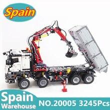Техника грузовик 20005 20004 20056 мотор Мощность автокран Mk II строительные блоки Legoing Конструкторы техника 42009 42043 Кирпичи Игрушки