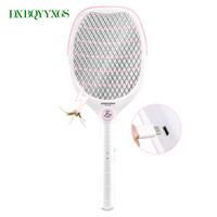 DXBQYYXGS Elektronische tragbare mückenfledermaus nachtlicht Bug Zapper raquete mata Fly Moskito-killer Schädlingsbekämpfung USB lade