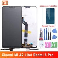Новый для Xiao mi Red mi 6 Pro Red mi 6Pro Полный ЖК-дисплей + дигитайзер с сенсорным экраном в сборе + рамка для Xiaomi mi A2 Lite