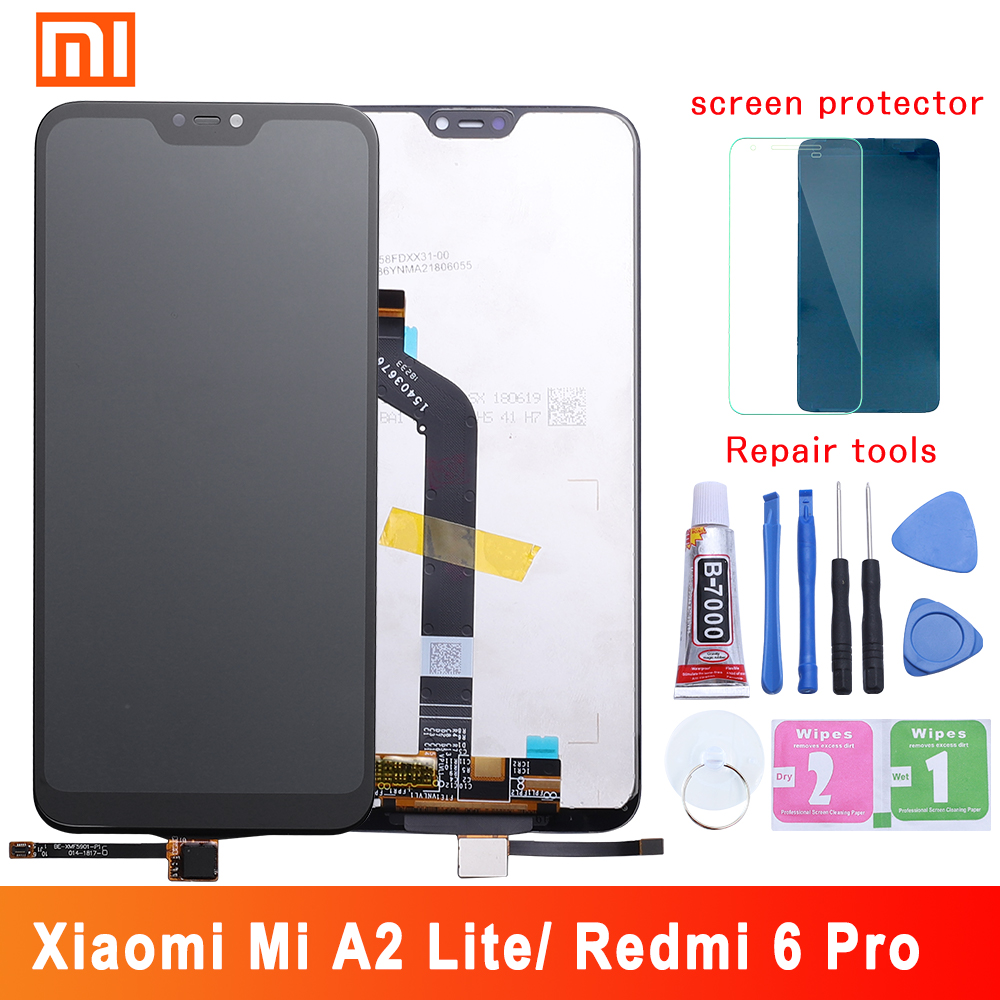 New For Xiaomi Redmi 6 Pro Redmi 6Pro Full LCD DIsplay + Touch Screen Digitizer Assembly + Frame Cover For Xiaomi Mi A2 Lite
