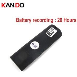 Image 1 - 8 ГБ Голосовая активированная запись имя файла сохранено по дате аудио аккумуляторная батарея для записывающего устройства 20H Работает USB stick recorder flash disk recorder VOX