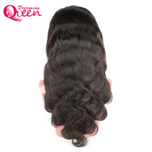 Dreaming Queen Remy Hair Body Wave Frontal Wig Human Hair Brazilian Lace Front Wigs Natural Black 150% Density In Stock