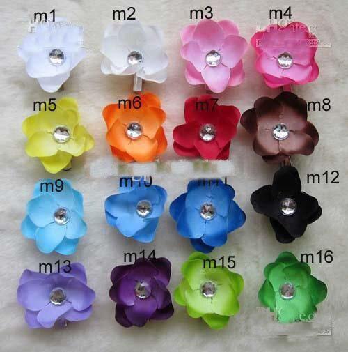 """16 цветов, 2,"""" Орхидеи моли(пион), Детские аксессуары для волос, заколка для волос для девочек"""