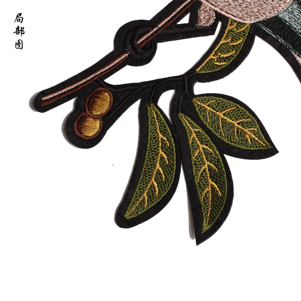 embroidery birds patches for jackets birds badges for jeans one pair birds applique for coats A228 in Patches from Home Garden
