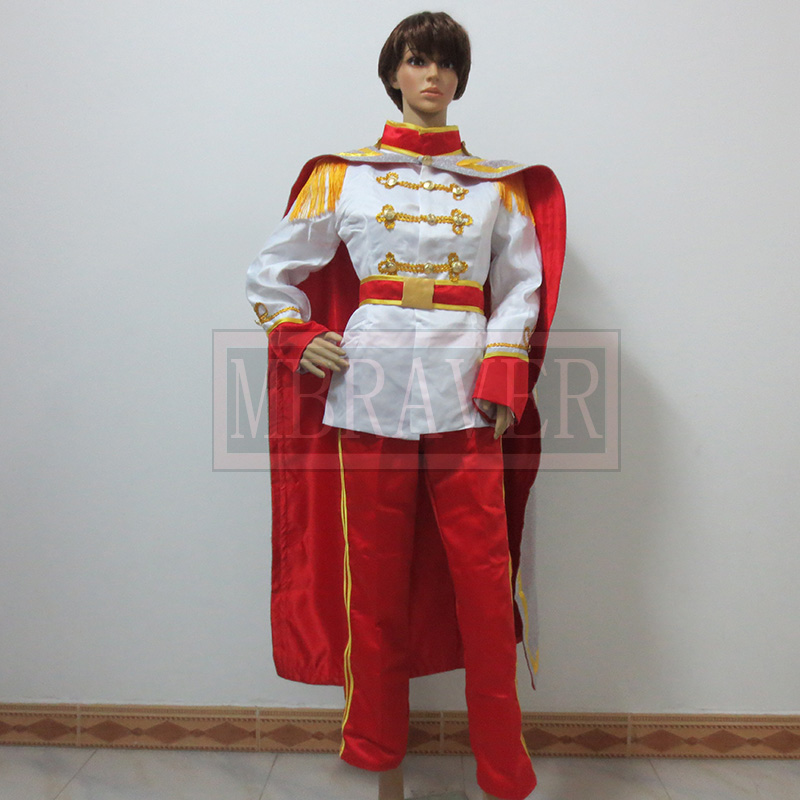 Cinderella Prince Charming Cosplay Costume Any Size