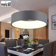 Modern round art 32W LED pendant lamps restaurant living room hotel hall office dining room Chandelier