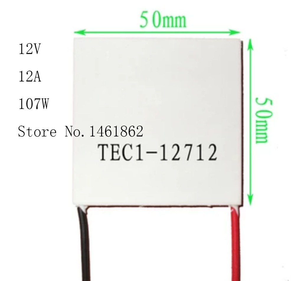 TEC1-12712 12V 12A 107W 50*50mm Thermoelectric semiconductor chip cooling refrigeration components for electronic sheet thermoelectric semiconductor refrigeration refrigeration tec1 04903 25 25mm