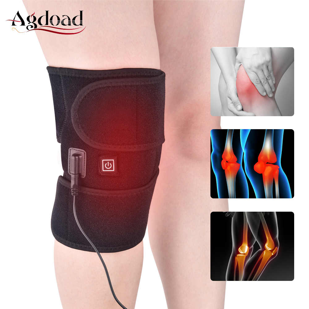 AGDOAD Arthritis Knee Support Brace Infrared Heating Therapy Kneepad for Relieve Knee Joint Pain Knee Rehabilitation Dropshippin