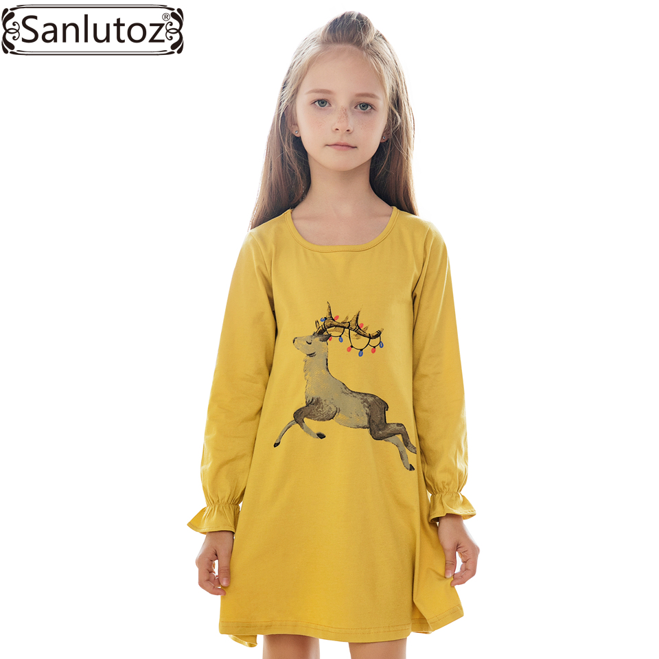 Sanlutoz girls dress winter cartoon girls clothing for Dresses to wear to a christmas wedding