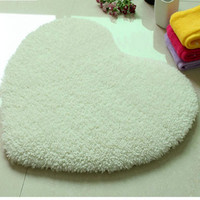 Solid Heart Design Shaggy Carpet Soft Plush Rugs Non Slip Shower Bedroom Mat Door Floor Carpet