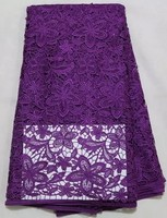 Factory Direct Offer Best Cotton Green Color 100 High Quality Cord Net Lace African Lace Fabric