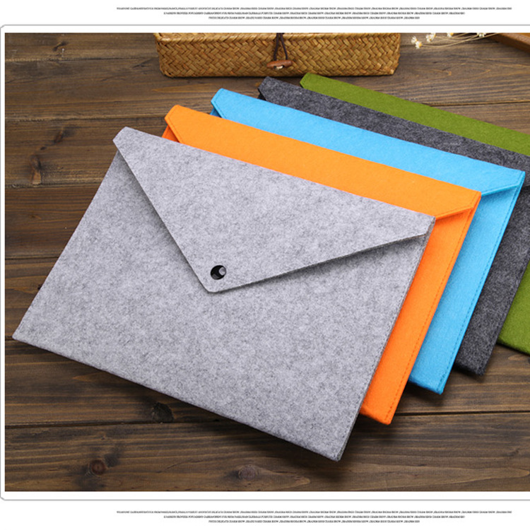 Simple A4 Big Capacity Document Bag Pad Business Briefcase File Folders Chemical Felt Filing Product 5colors Available