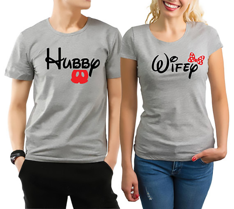 997bce0842e T Shirt Minnie Mickey T-Shirt grande taille hauts vêtements de couple Gris  chemise couple