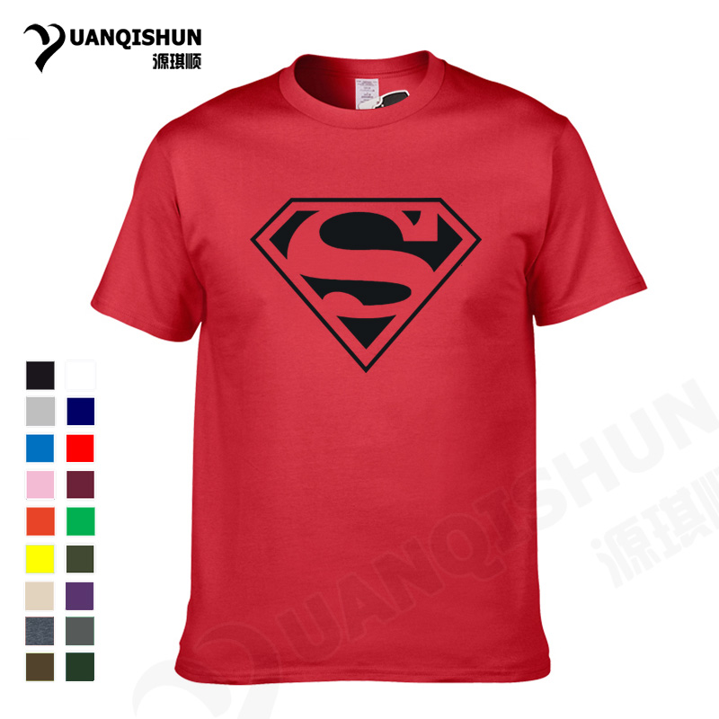 YUANQISHUN Casual Funny T-shirt Comic Super Hero Cartoon S Superman T Shirt 2017 Summer Men Boy 100% Cotton Boutique Tshirt Tees ...