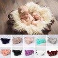 Faux Fur Cesta Stuffer Cobertor Mat Bebê recém-nascido Backdrop Fotografia Foto Prop