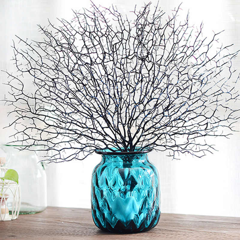 Artificial Flower Plastic Peacock Coral Branch Home Vase Decorative Twig Diy Art Decorations For Party Artificial Dried Flowers Aliexpress