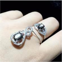 93de6ddedd1e Природный сапфир комплект ювелирных изделий натуральной звездчатый сапфир-925  серебро 1 шт. кулон, 1 шт. кольцо