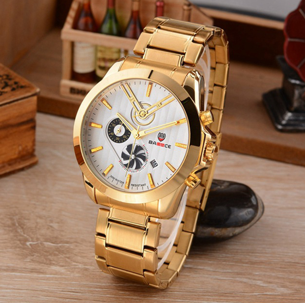 Men Wrist Watch Top Luxury Brand BADACE Fashion Stylish Watches Men Stainless Steel Strap Quartz-watch Gold Silver Clock for Man chenxi men gold watch male stainless steel quartz golden men s wristwatches for man top brand luxury quartz watches gift clock