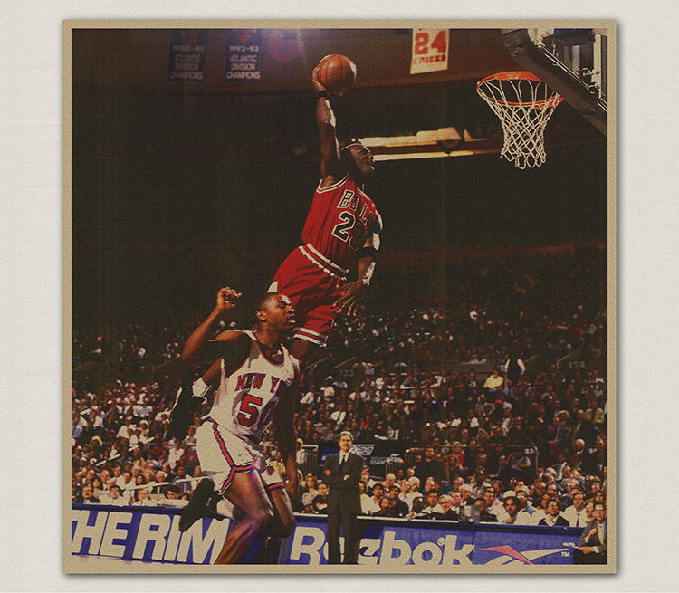 TOP COOL -Vintage retro basketball Jodan Dunk king poster print art- HOME bar coffee house wall TOP Decor ART painting