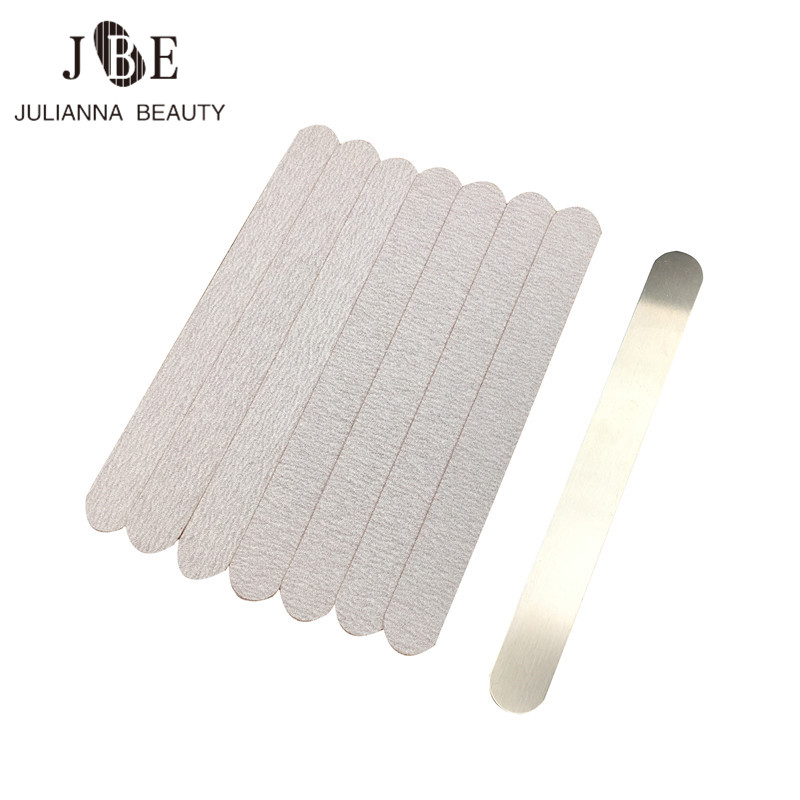 100 Pcs Double Sided Manicure Nail File Calluses Remover Manicure Stainless Steel Nail File Nail Art Beauty Tool