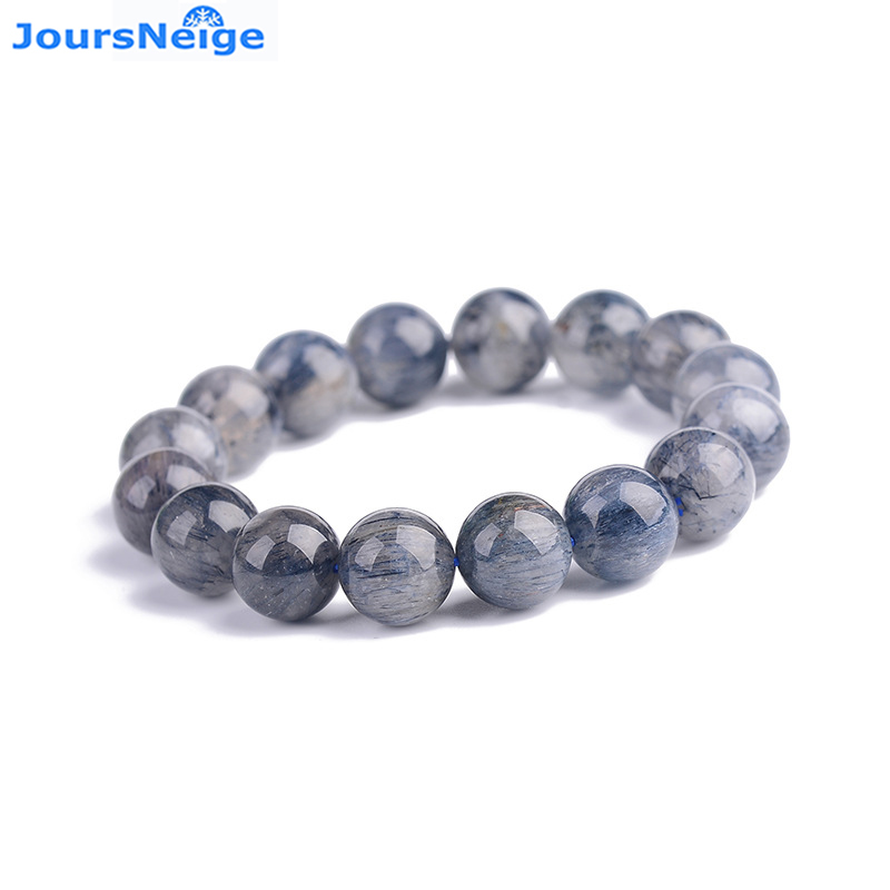 Wholesale Blue Hair Natural Crystal Bracelets Round Bead Bracelet Luck for Men Women Helping Business Wealth Jewelry JoursNeige joursneige natural tourmaline bracelets crystal necklace for women women simple and fresh crystal bracelet multilayer jewelry