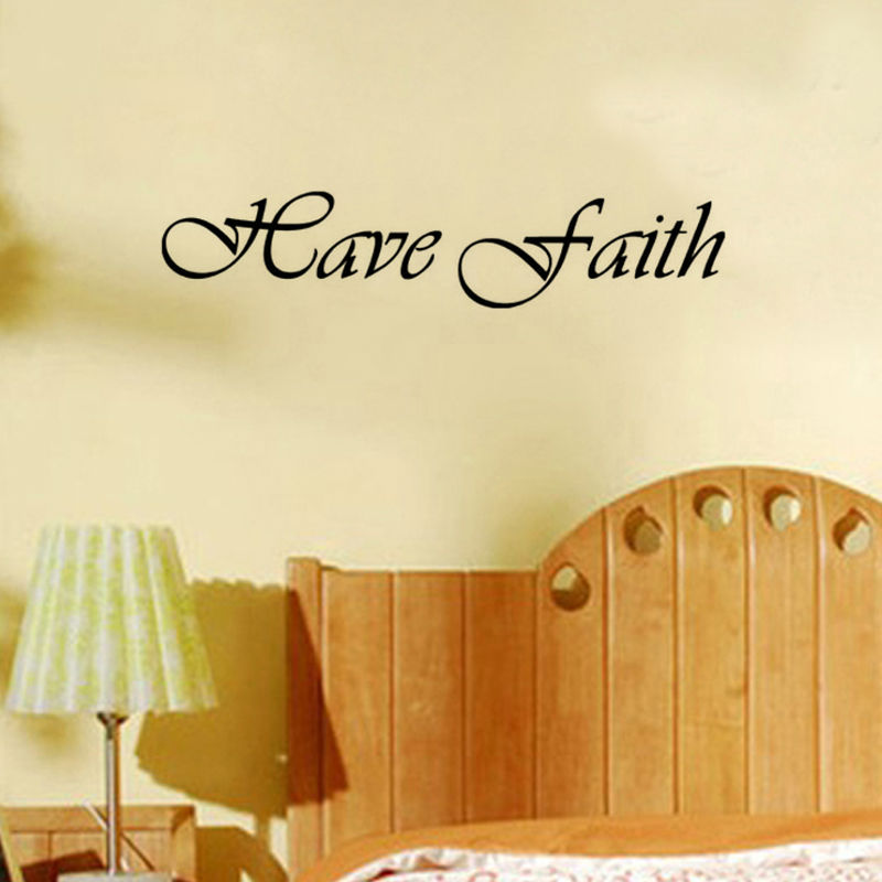 CaCar Have Faith Inspirational Words Baby Nursery Wall Stickers ...