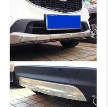 Front + Rear Bumper Protector Guard Skid Plate 2pcs For Mazda CX-5 CX5 2012-2016 цена 2017