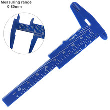 0-80mm Double Scale Blue Plastic Vernier Caliper with Blue Mini Measurement Tool for Students / Antique Measurement(China)