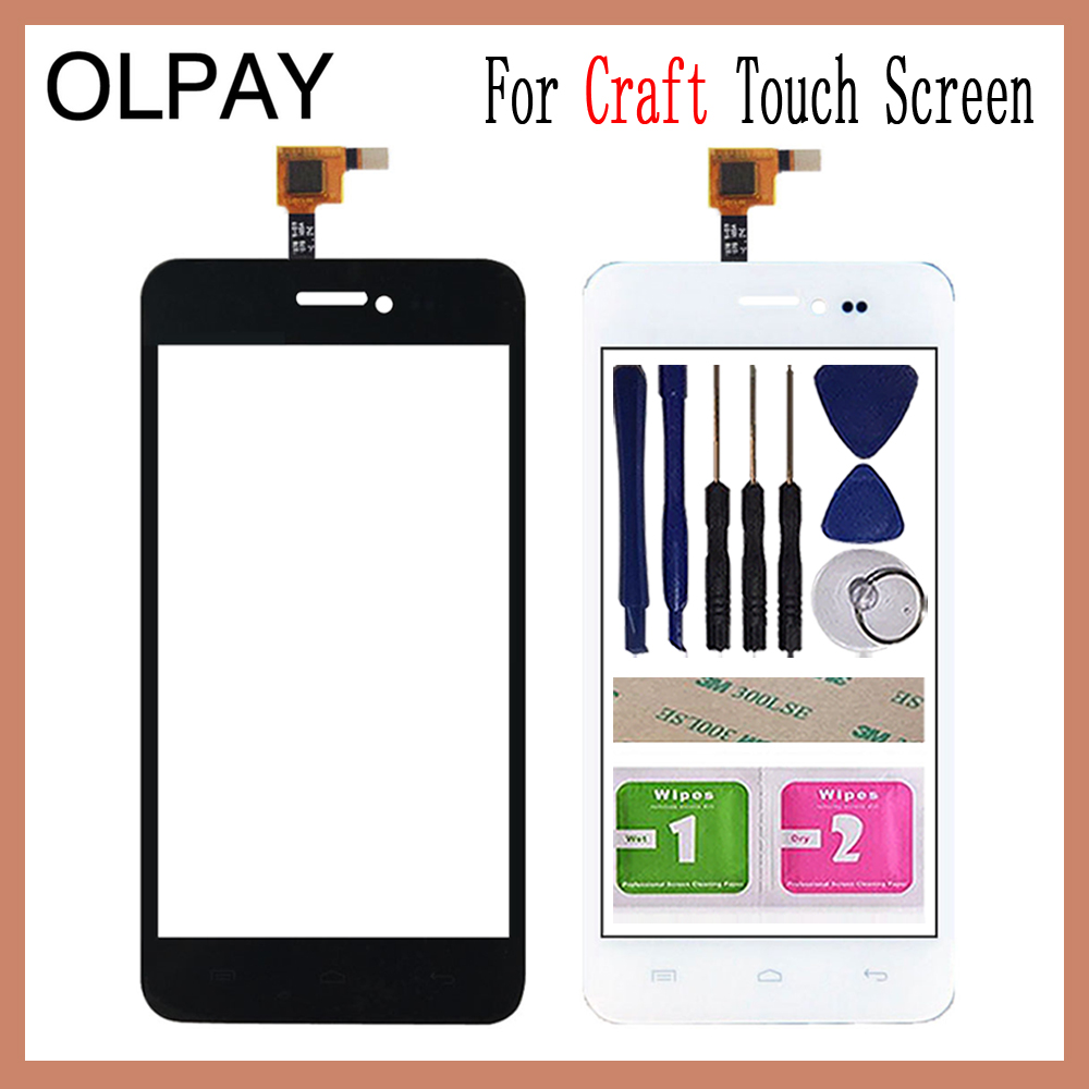 OLPAY 4.5'' For Explay Craft Touch Screen Glass Digitizer Panel Lens Sensor Glass Free Adhesive And Wipes