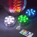 9 Sumergible LED Vela Control Remoto A Prueba de agua Multicolor Intermitente Lámpara Floral Florero Base de Luz Para El Banquete de Boda Decoración