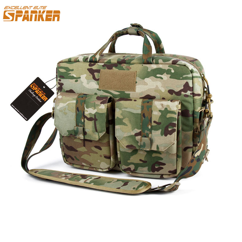 Tactical MOLLE Single Shoulder Briefcase Outdoor Hunting Backpack Military Nylon Hiking Sports Bag