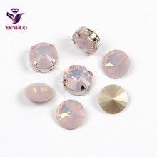 1122 Rivoli Rose Water Opal Crystal Stones All Sizes 6,8,10,12,14,16,18mm Jewelry Marking Settings Fancy Glass Beads